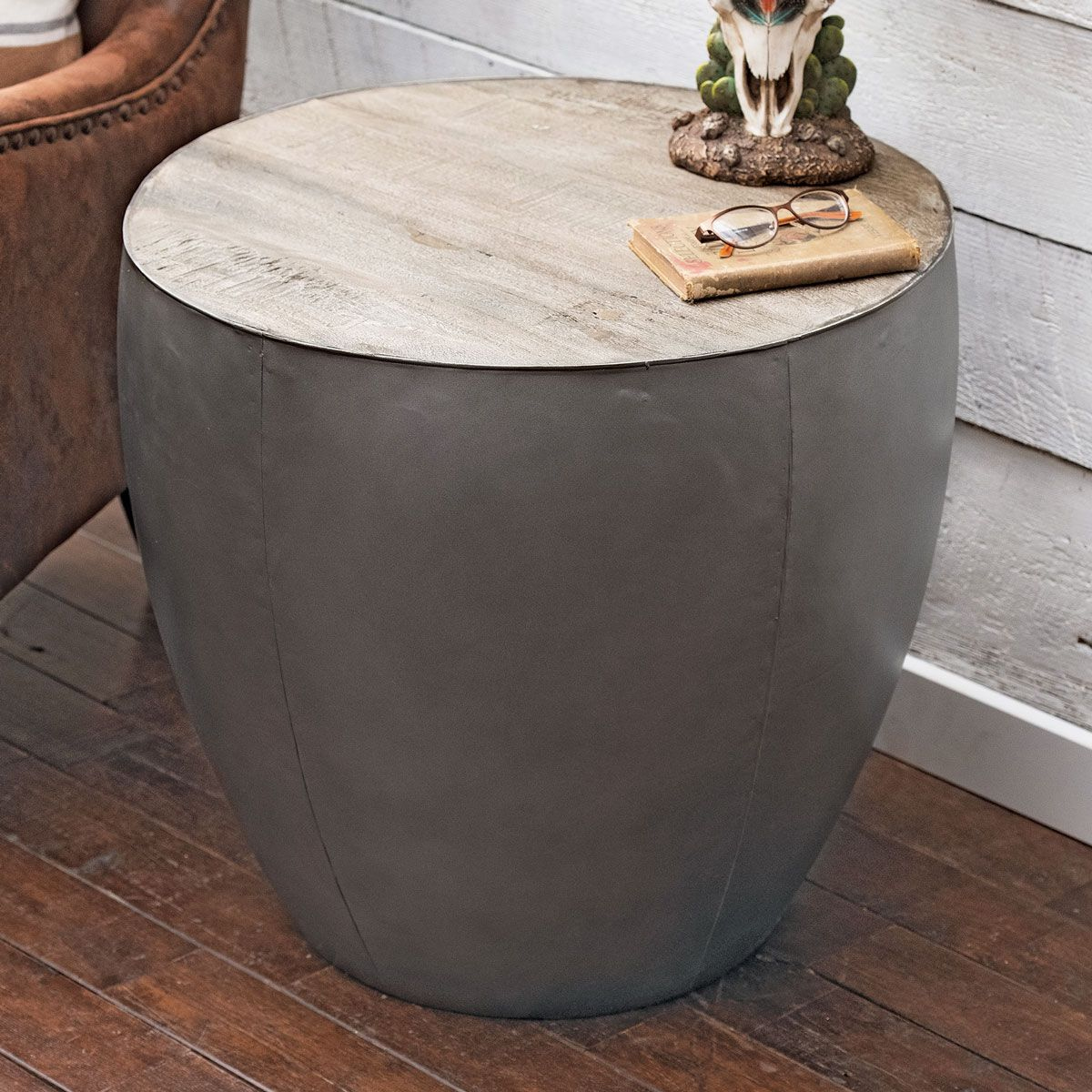 Silverthorne Metal & Wood End Table