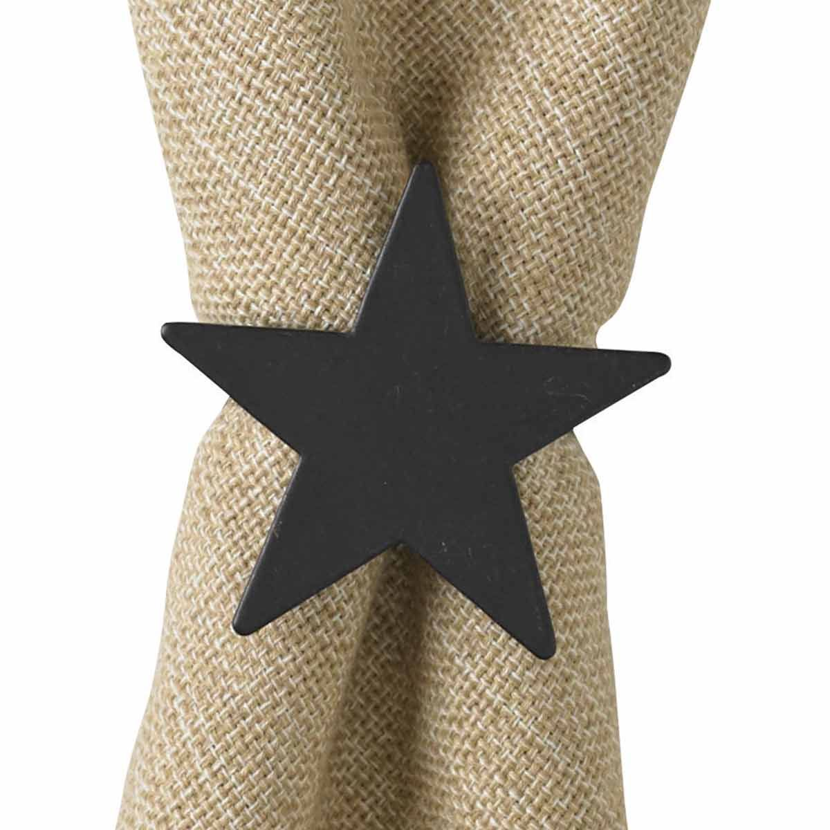 Simple Star Napkin Rings - Set of 4