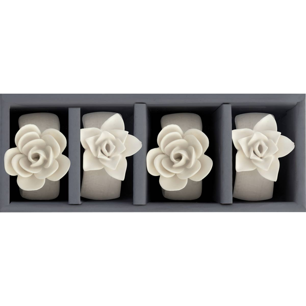 Simple Succulent Napkin Rings - Set of 4