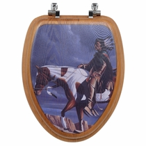 Sioux Country Wood Toilet Seat - Round