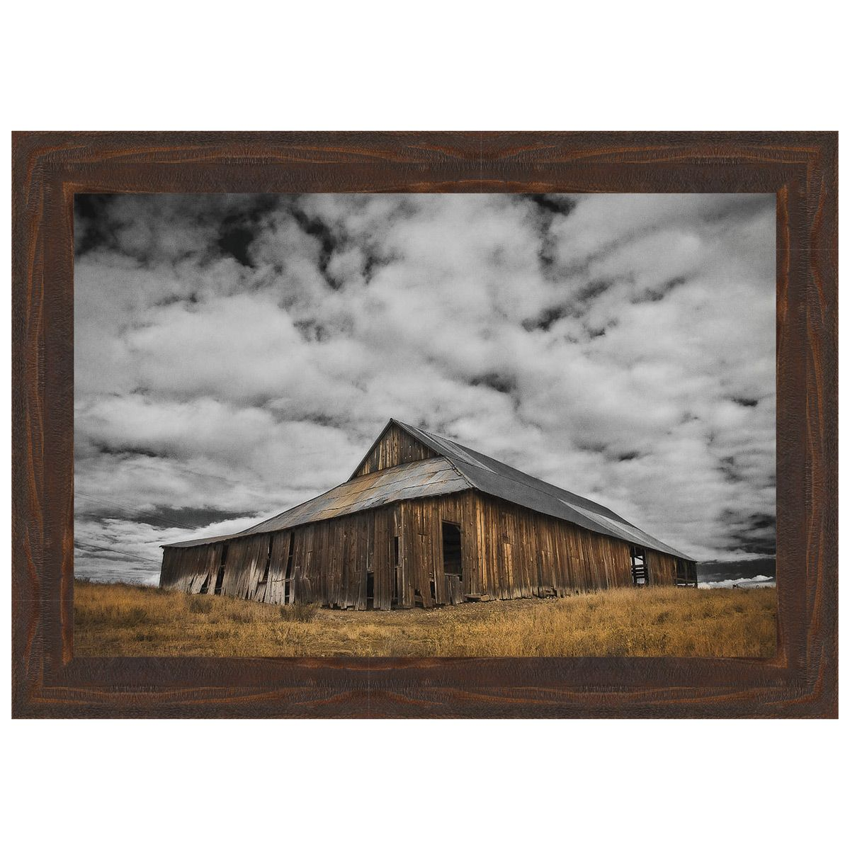 Siskiyou County Barn Framed Canvas