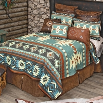 Sky Diamonds Quilt Set - Queen