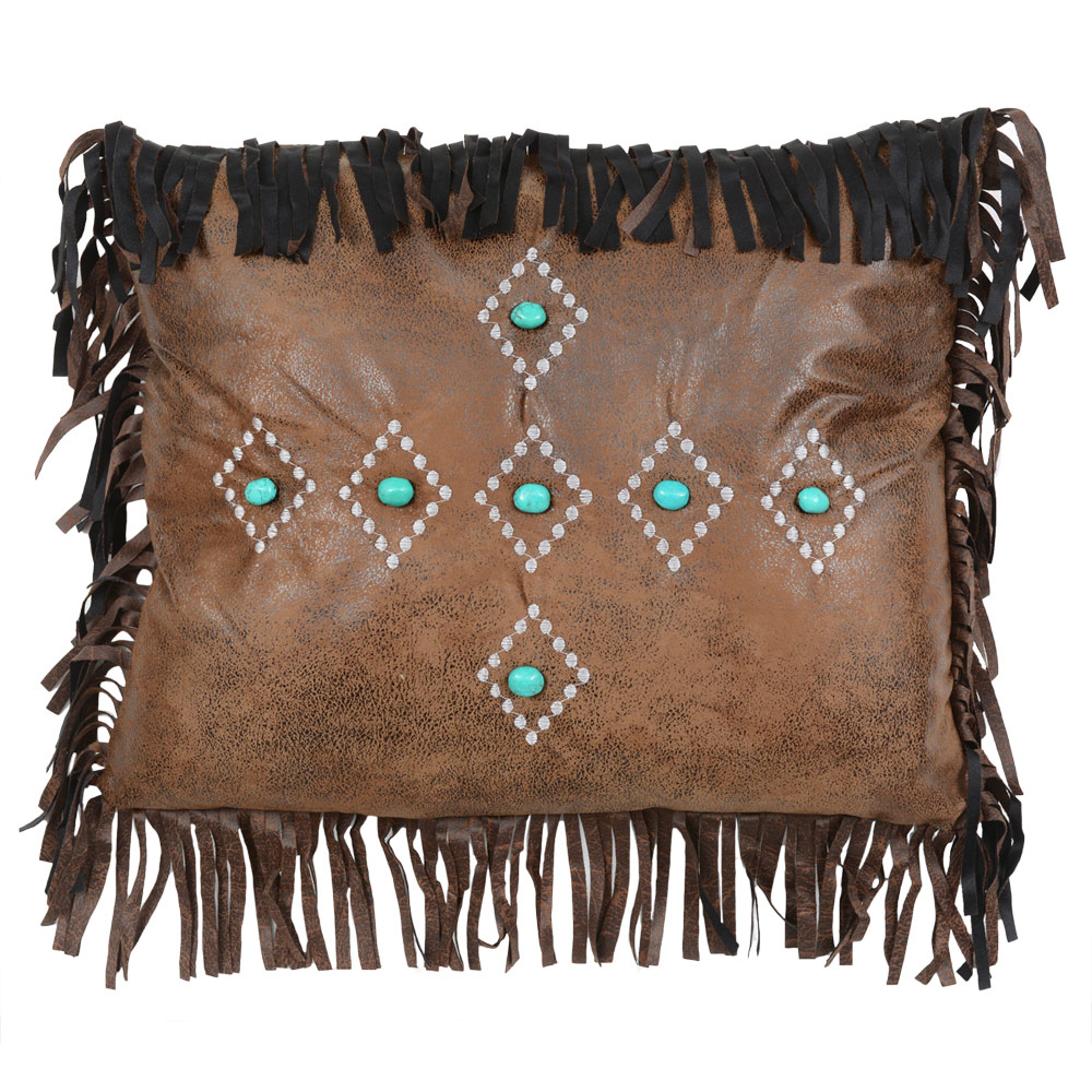 Skystone Desert Turquoise Diamond Pillow