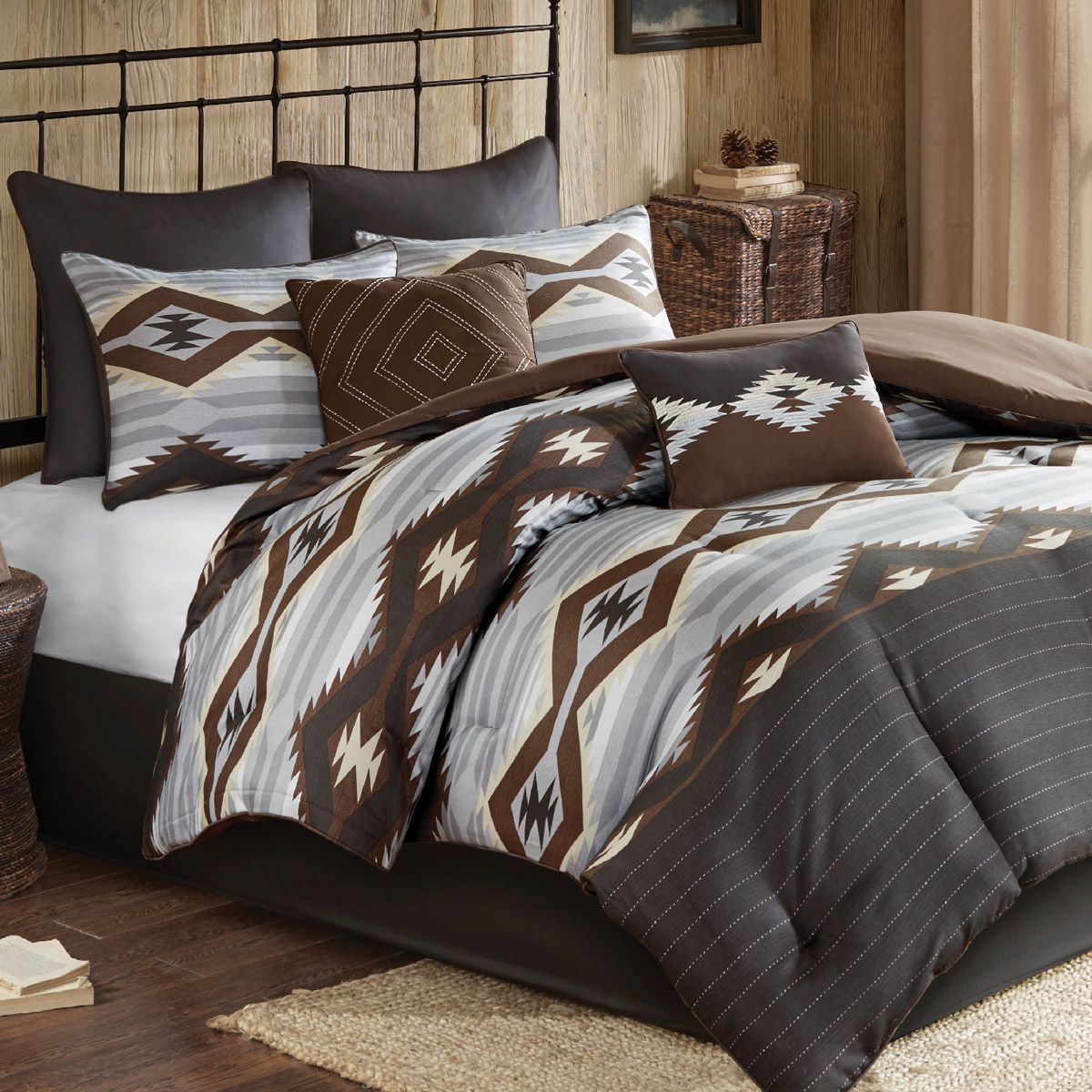Slate River Oversized Bed Set - Full