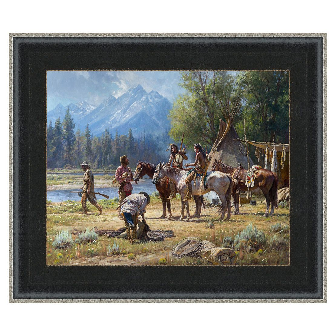 Snake River Culture Framed Canvas