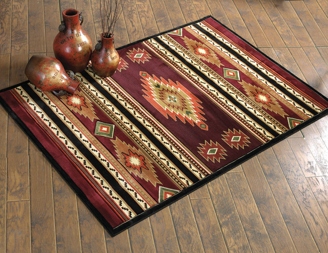 Soaring Diamond Terracotta Rug - 3 x 7