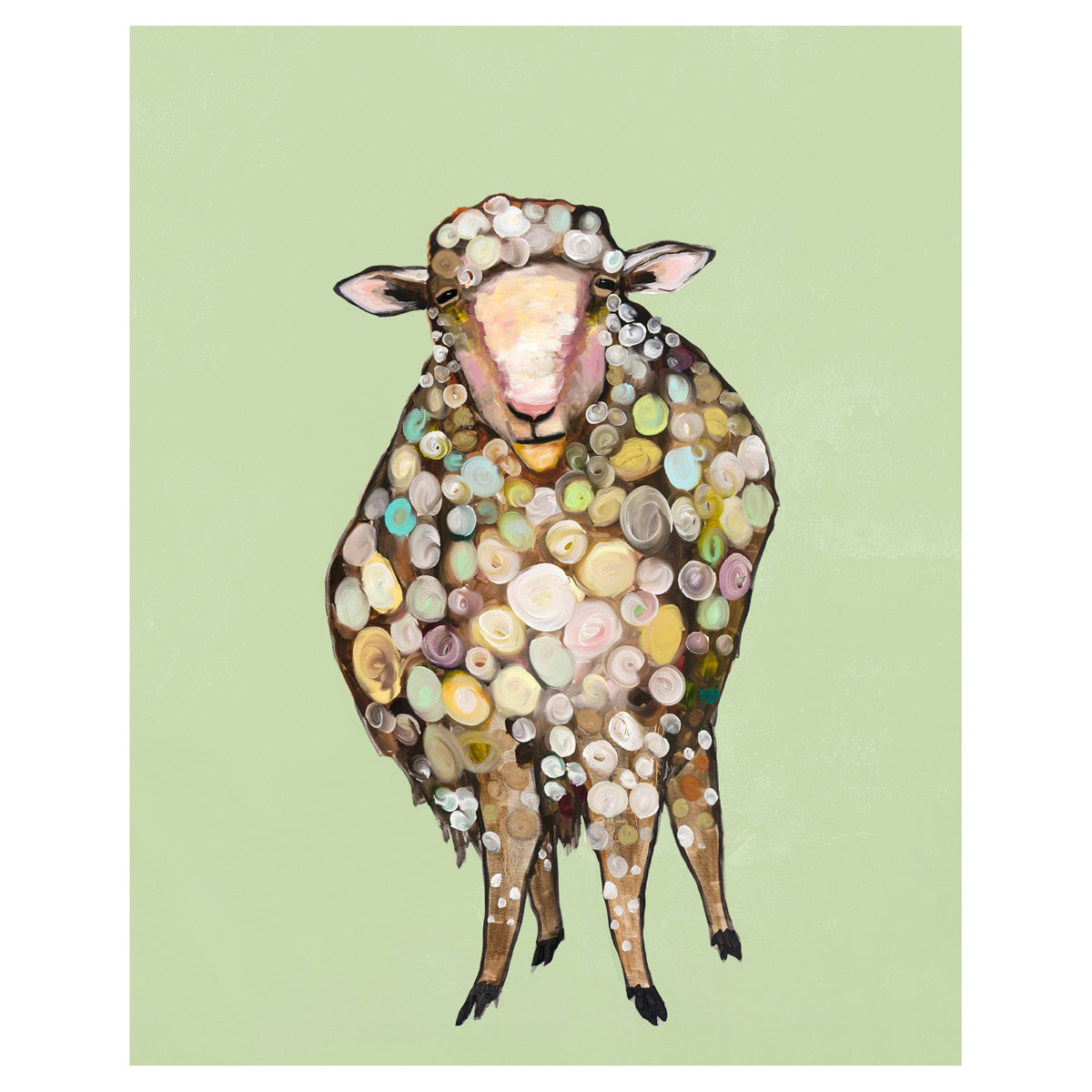 Solo Sheep Canvas Art