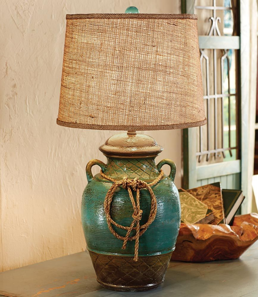 Sonora Turquoise Pottery Lamp