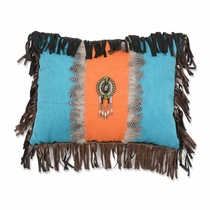 Sonoran Sky Feather Medallion Pillow
