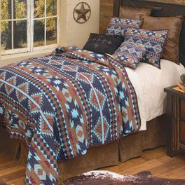 Southwest Aztec Quilt Set - King - CLEARANCE