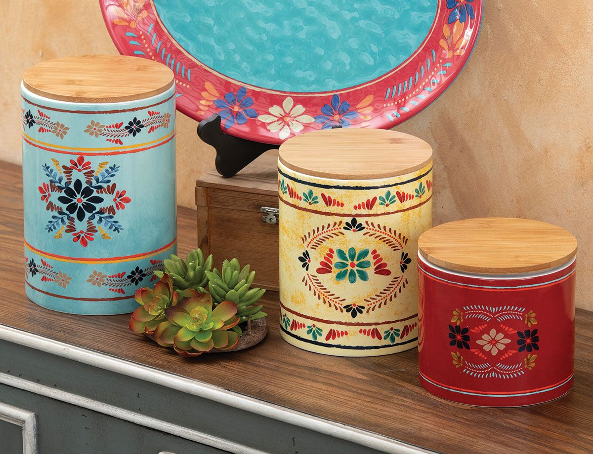 Southwest Bloom Canister Set - OUT OF STOCK - ETA - 11/2/2020