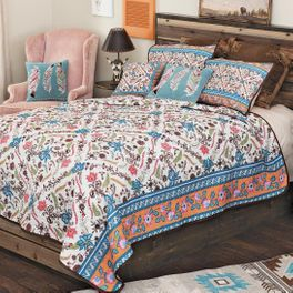 Southwest Bloom Quilt Set - Queen - CLEARANCE