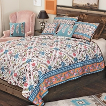 Southwest Bloom Quilt Set - Queen