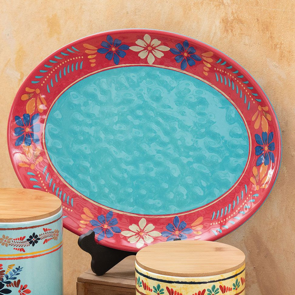 Southwest Bloom Serving Platter