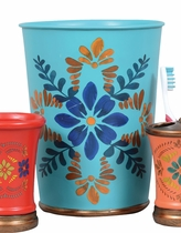 Southwest Bloom Waste Basket