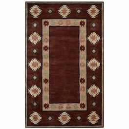 Southwest Burgundy Double Shapes Rug Collection