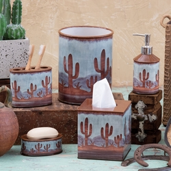 Southwest Cactus Bath Accessories