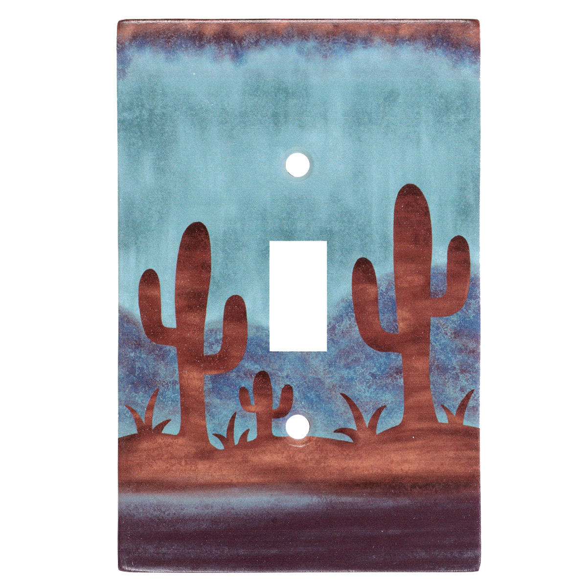 Southwest Cactus Single Switch Cover