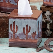 Southwest Cactus Tissue Box