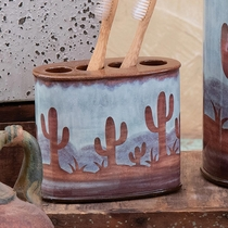 Southwest Cactus Toothbrush Holder
