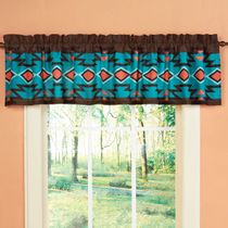 Southwest Canyon Lined Valance