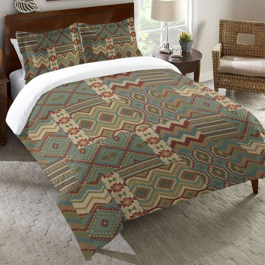 Southwest Collage Duvet Cover - Queen