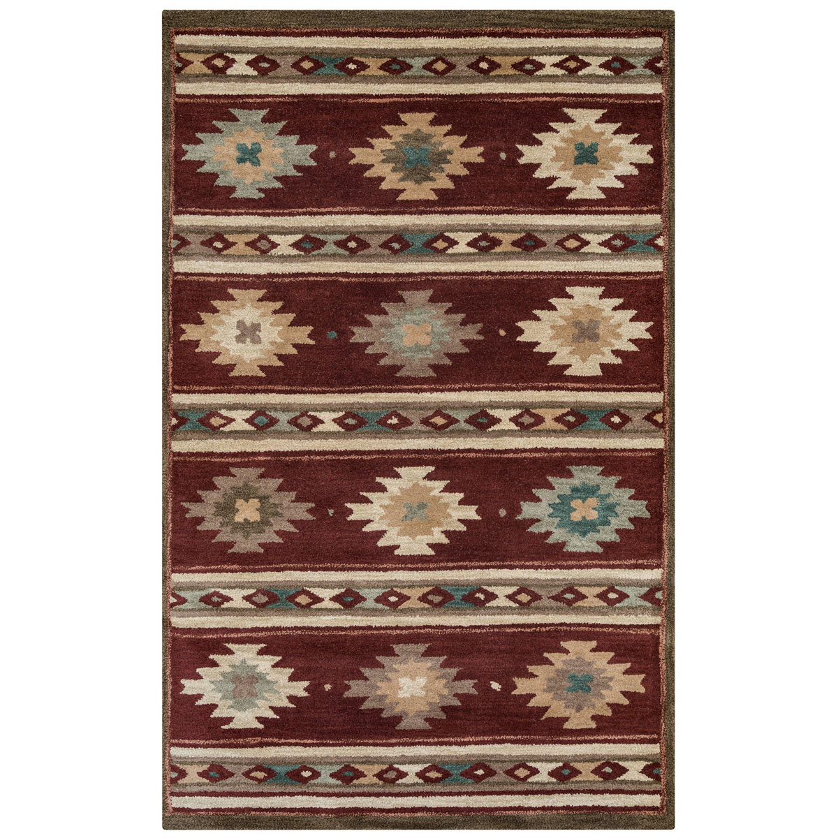 Southwest Diamond Stripes Rug - 8 Ft Round