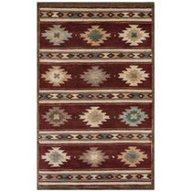 Southwest Diamond Stripes Rug - 8 x 10