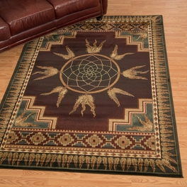 Southwest Dreams Burgundy Rug Collection