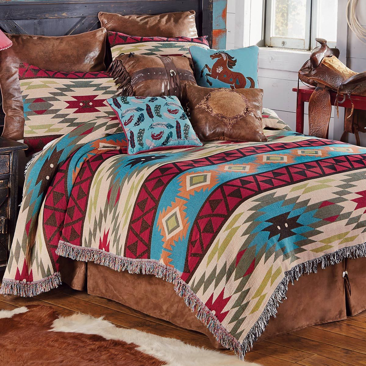 Southwest Expressions Tapestry Coverlet - King