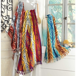 Southwest Fringed Spa Towels - CLEARANCE