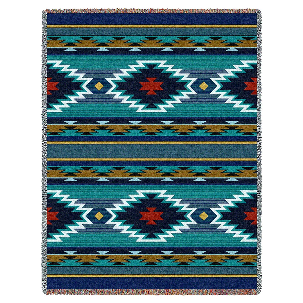 Southwest Geometric Cornflower Throw
