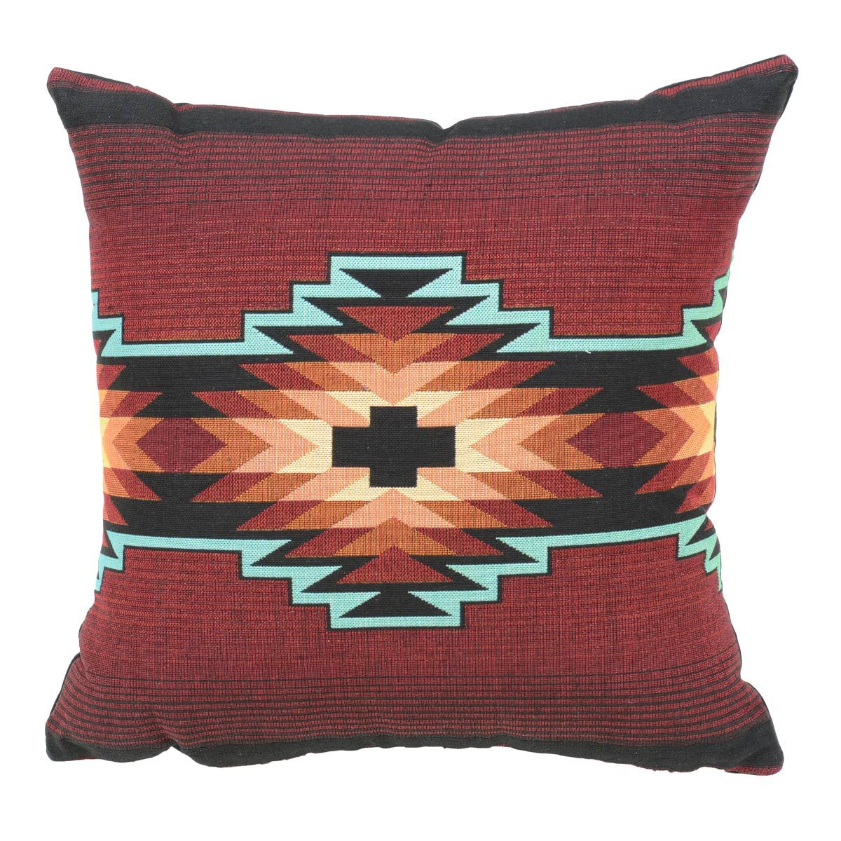 Red Sunset Southwest Geometric Pillow