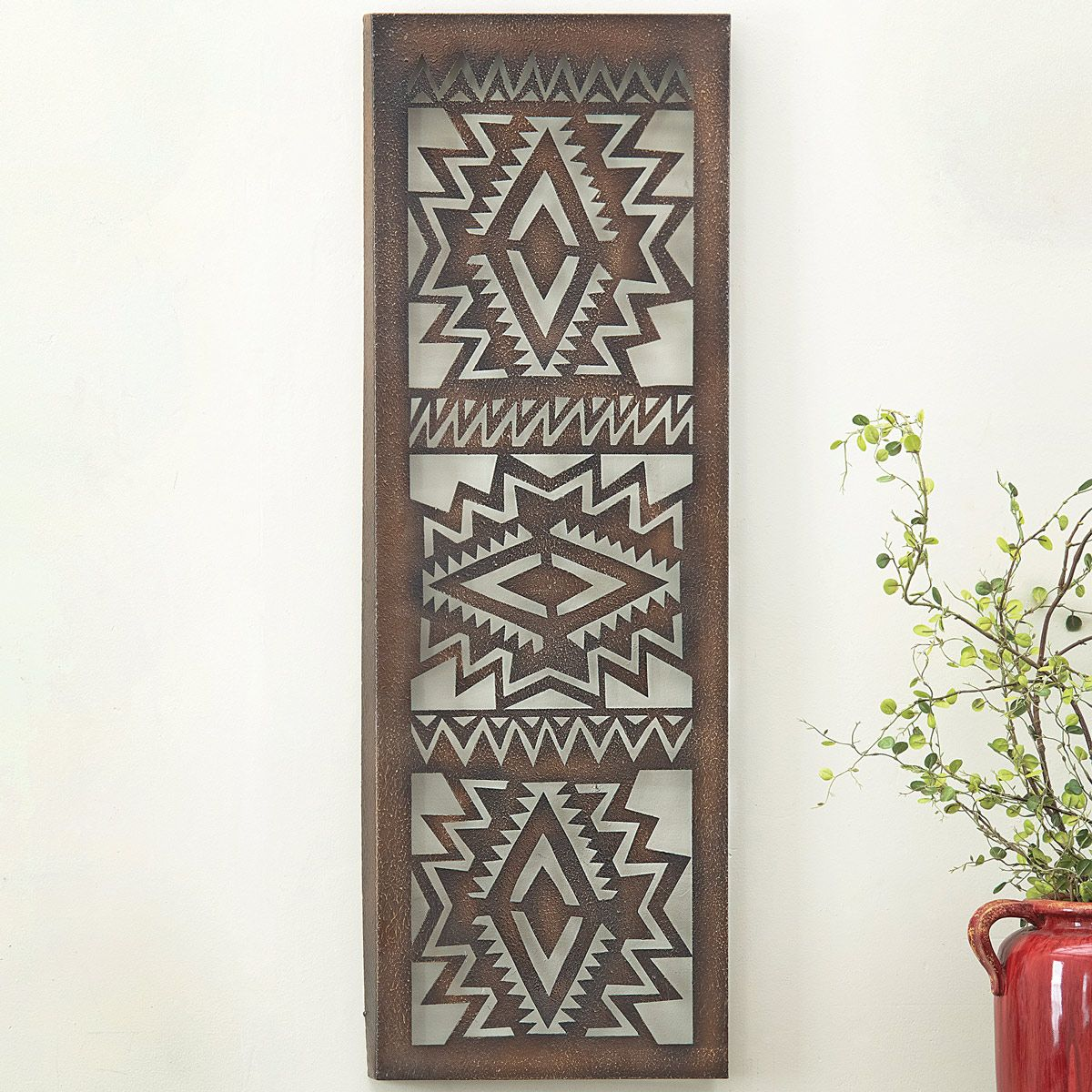 Southwest Geometric Metal Wall Art