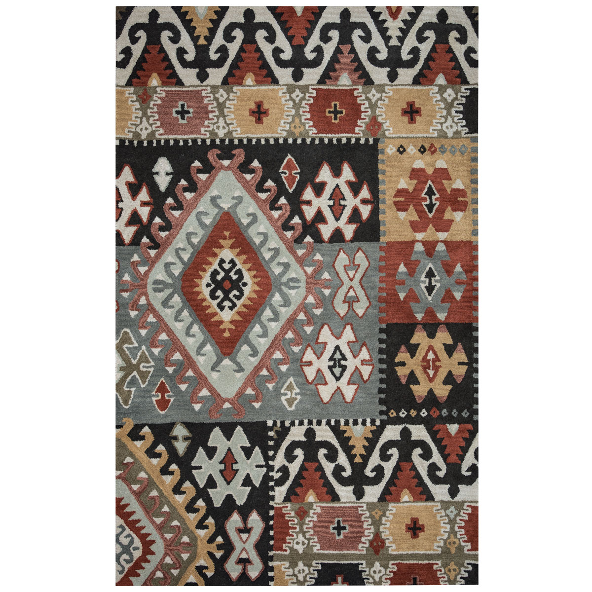 Southwest Geometric Patches Rug - 2 x 8