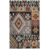 Southwest Geometric Patches Rug - 8 Ft Round