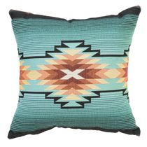 Turquoise Diamond Southwest Geometric Pillow