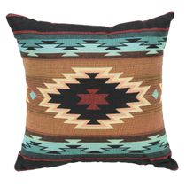 Turquoise Peaks Southwest Geometric Pillow