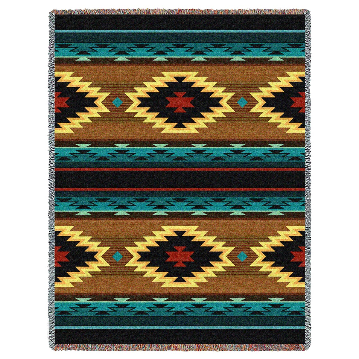 Southwest Geometric Turquoise Throw