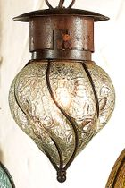Southwest Glass Pendant Light - Small