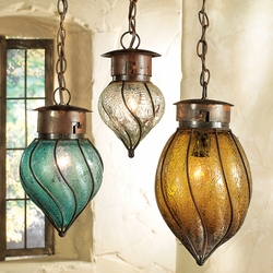 Southwest Glass Pendant Lights