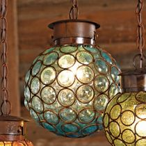 Southwest Glass Sphere Pendant Light - Large