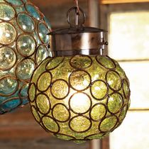 Southwest Glass Sphere Pendant Light - Medium