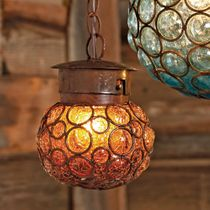 Southwest Glass Sphere Pendant Light - Small