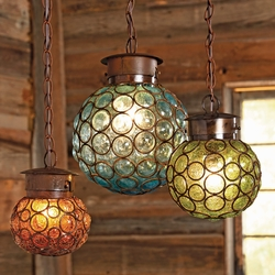 Southwest Glass Sphere Pendant Lights