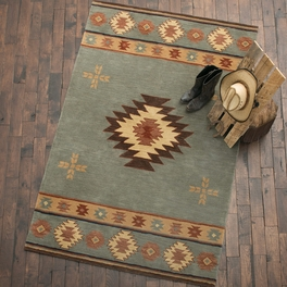 Southwest Gray Blue Rug Collection