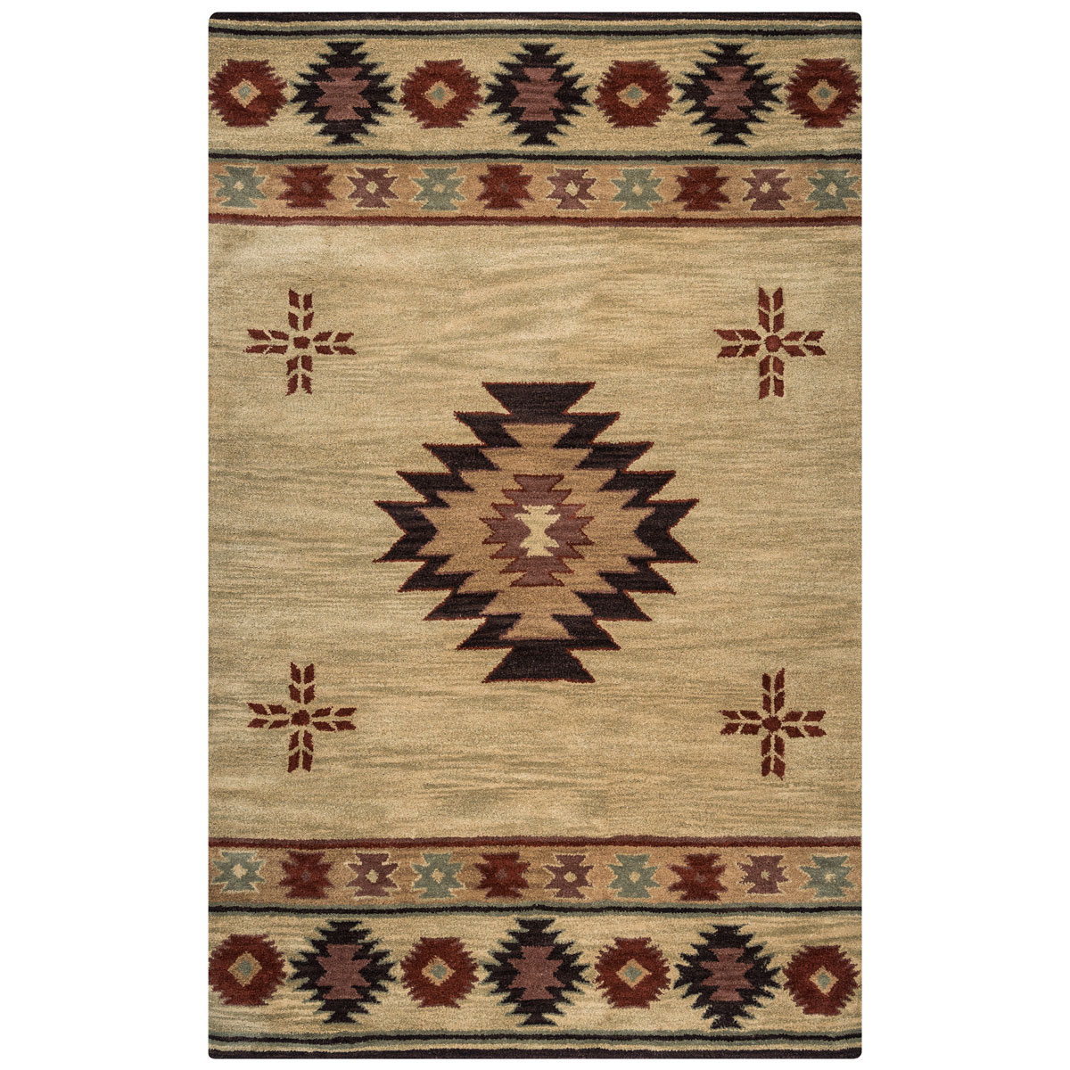Southwest Khaki Rug - 8 Ft Round