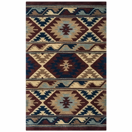 Southwest Navy and Burgundy Rug Collection