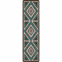 Southwest Nights Turquoise Rug - 2 x 8