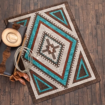 Southwest Nights Turquoise Rug - 4 x 5